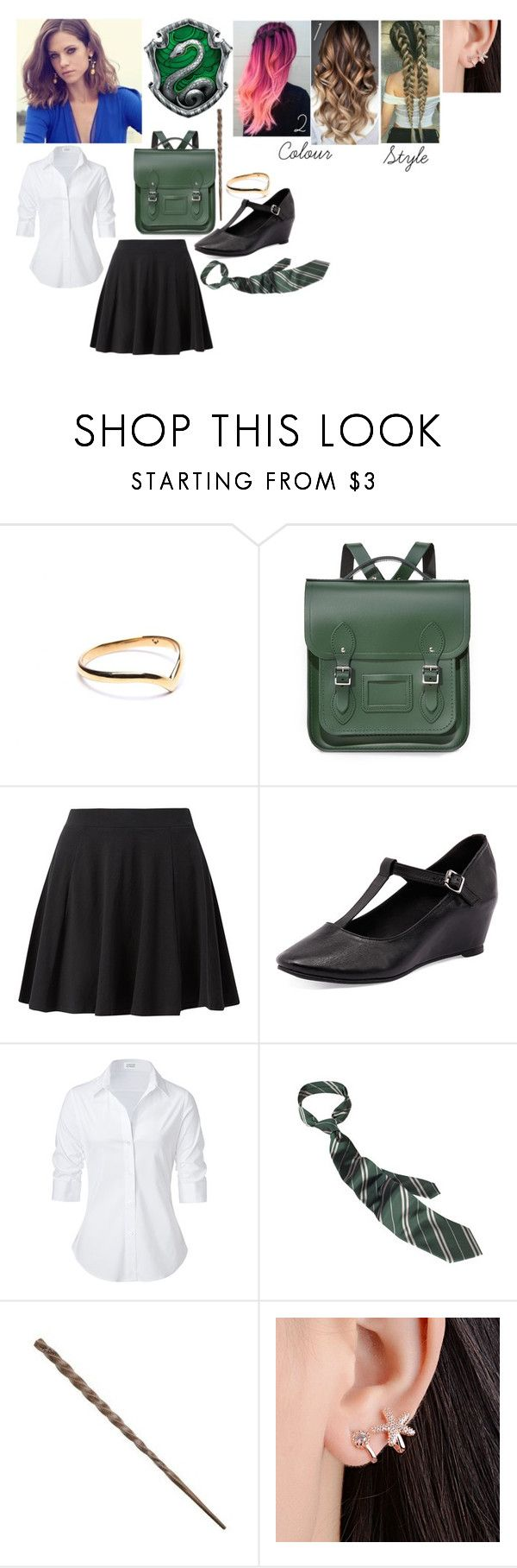 """""""Rosanna Willow Barrymore- Hogwarts Uniform"""" by the-fault-in-our-paper-towns ❤ liked on Polyvore featuring Puck Wanderlust, The Cambridge Satchel Company, Zensu, Steffen Schraut and CO"""