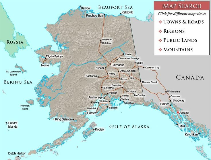 Map Of Towns And Cities In Alaska  CONTACT  907 750