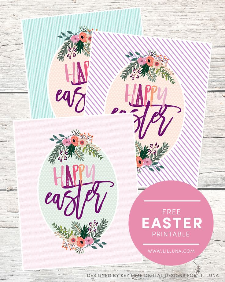 FREE Happy Easter Printables – available to download in 3 colors! This would be …   – Lil' Luna