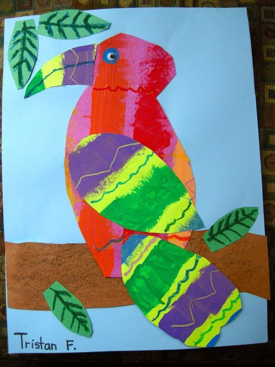 Zilker Elementary Art Class: 1st & 2nd Grade Eric Carle Collages
