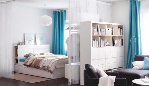 Wohn Und Schlafzimmer In Einem Raum Ideen Wohnung Einrichten Wohnen Wohnung
