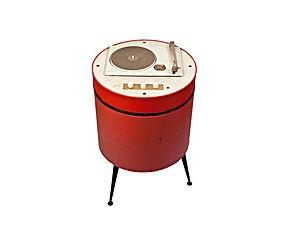 Mobiletto cilindrico con giradischi funzionante - anni '50
