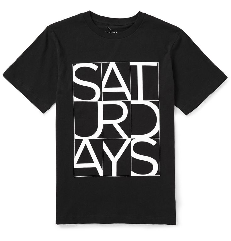 Saturdays Surf NYC Cropped Printed Cotton Jersey T Shirt | MR PORTER.  Saturdays SurfSport DesignTee ...