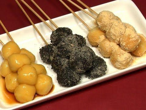 TOFU DANGO  豆腐の白玉団子 作り方レシピ (Shiratamako, Silken Tofu, Kinako, Black Sesame)