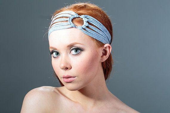 Yoga Headbands For Women Blue Headband wide by jahannamartinez