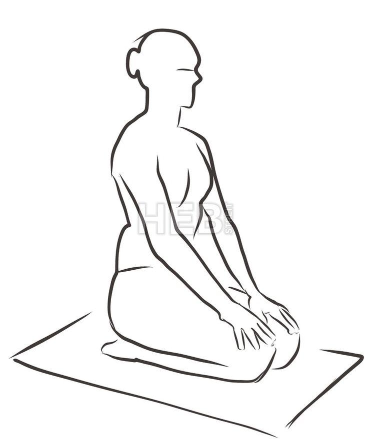 Vajrasana Diamond Pose, Yoga Figure