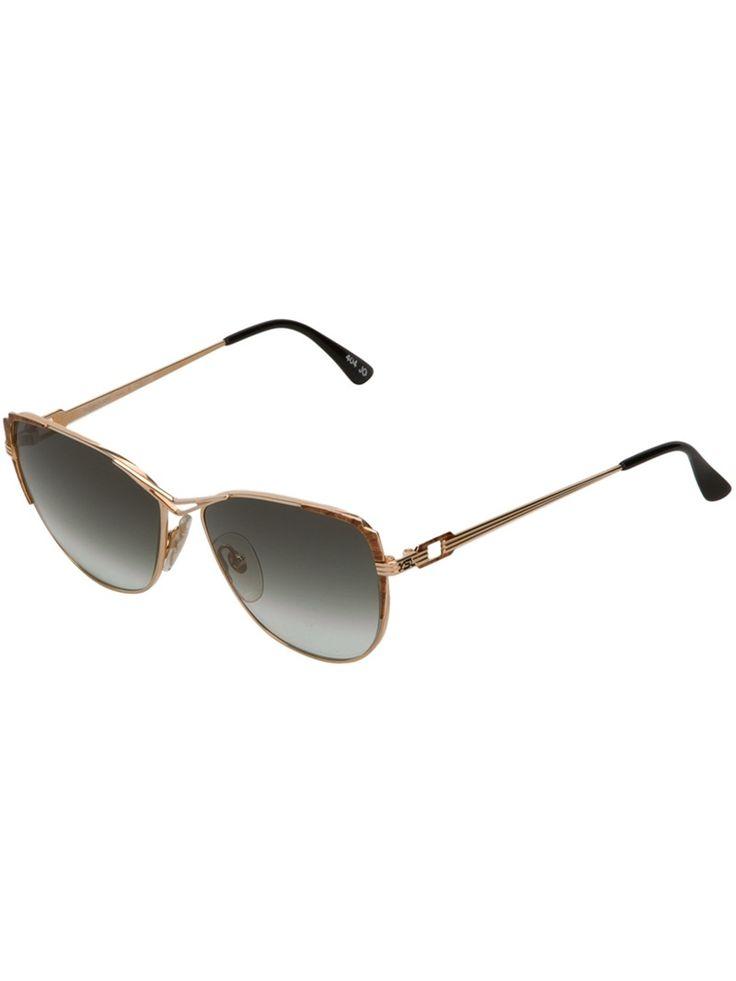 YVES SAINT LAURENT VINTAGE square frame sunglasses