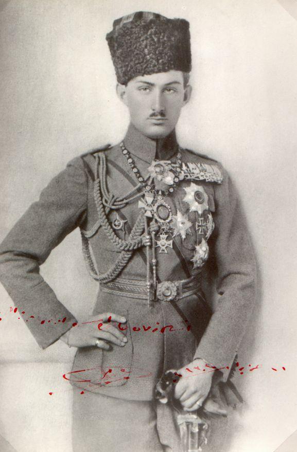 Portrait of Ömer Faruk Osmanoğlu (1898-1969). Picture taken in Istanbul, ca. 1922. He was the son of Abdülmecid, the last Ottoman Caliph.