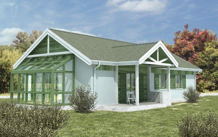 """""""Zimorodek"""" Murator WM15 - projekt z serii """"Dom piękny i prosty"""". Niewielki dom przeznaczony dla małej rodziny (trzy-, czteroosobowej)."""