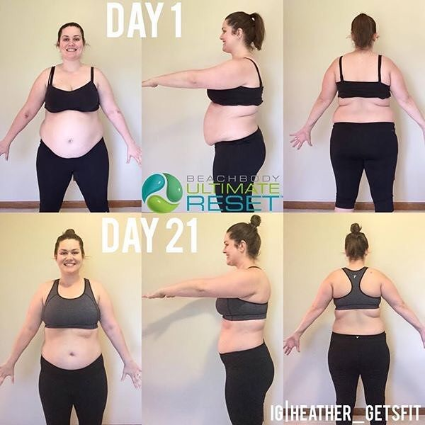 If you want to stop starting over stop giving up.  It's #transformationtuesday and I had to give a shoutout to Heather for this amazing transformation with something call the Ultimate Reset.  Over the past 7 weeks during the strike I have not been taking care of myself. I did workout everyday but I wasn't eating my normal foods sleeping enough or getting any downtime. I could simply say 'eh whatever I'll get back to my routine' but I feel like my body needs a break. I feel sluggish fluffy…