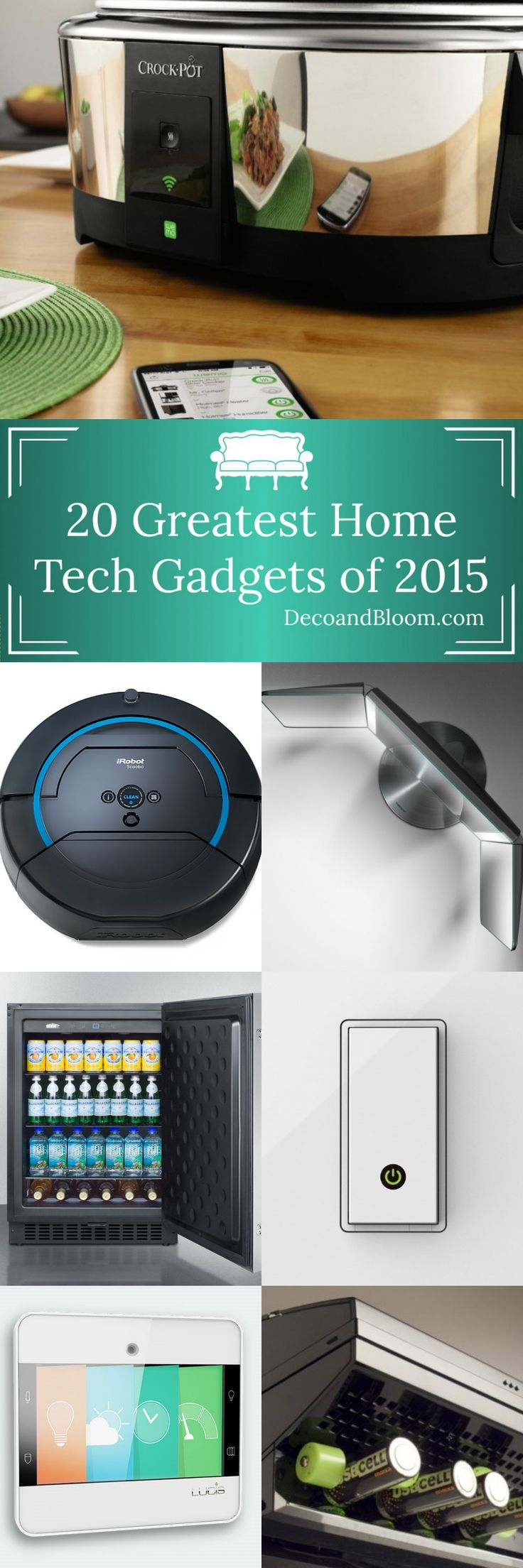 20 Greatest Home Tech Gadgets of 2015 - From the Home Decor Discovery Community at www.DecoandBloom.com