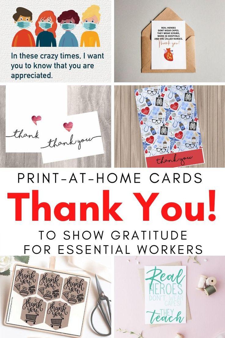 PrintAtHome Thank You Notes Printable thank you cards