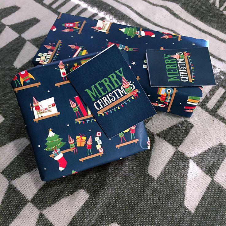 Papel de Regalo Elfos trabajadores #navidad #feliznavidad #envolver #regalos #christmas #navidad2017 #merry #estilo #envuelveconestilo