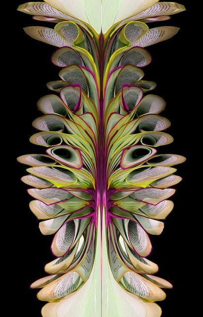 Fabulous book sculpture by British artist Bronia Sawyer