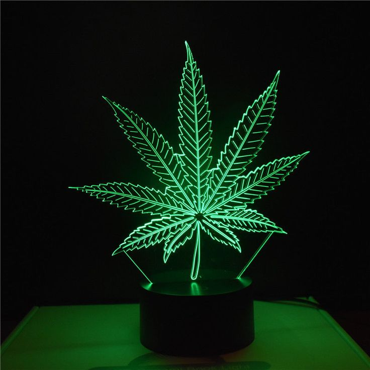 Novelty 3D Abstract #Cannabis leaves Night Light 7 Color Change LED Table Lamp #Unbranded offered by top-bo-3d-lamp on eBay