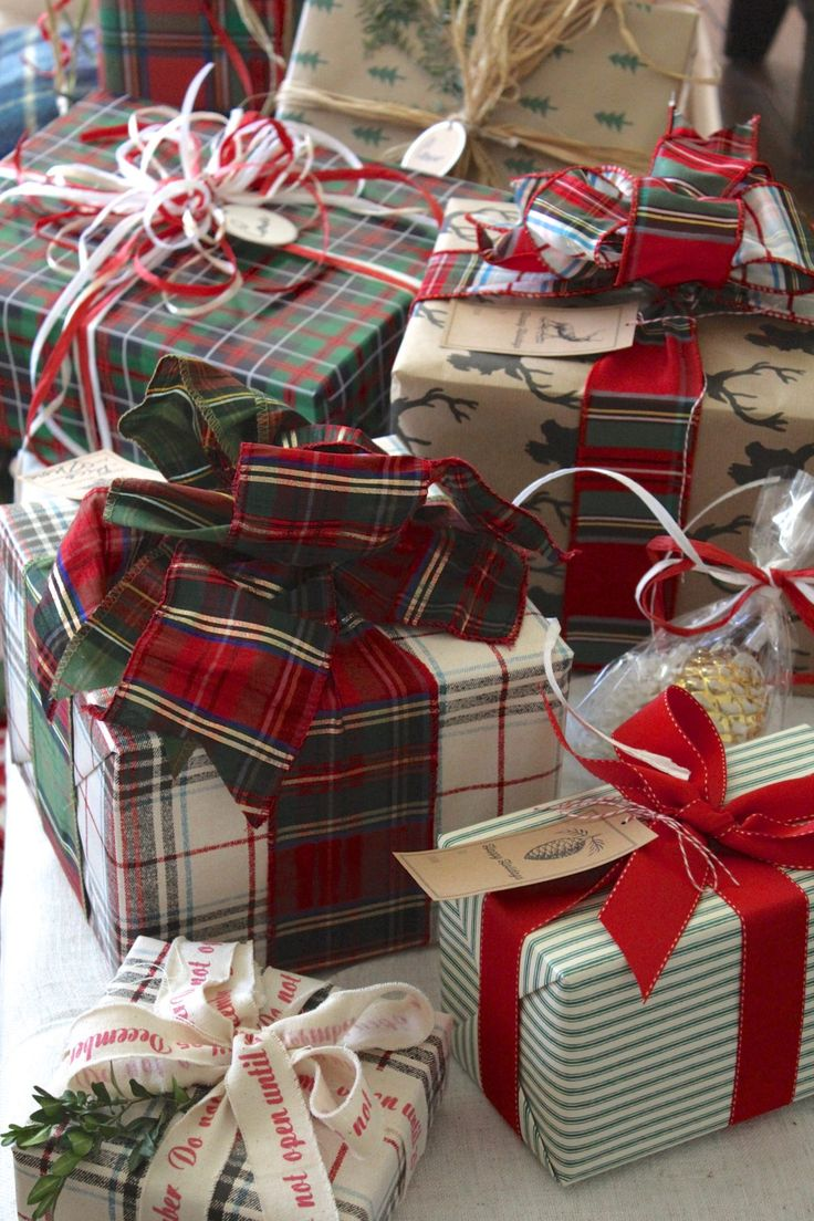 Plain and fancy, plaids and stripes – pretty wrapping is like getting a gift t...