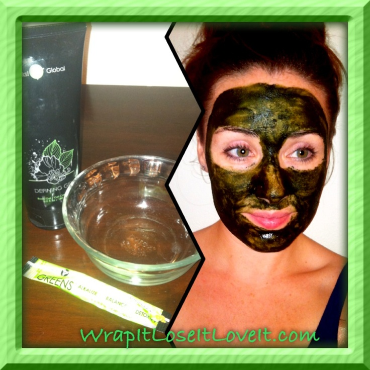 All natural face mask! Add one packet of it works GREENS to a teaspoon of defining gel. Banish acne while toning and tightening your skin!