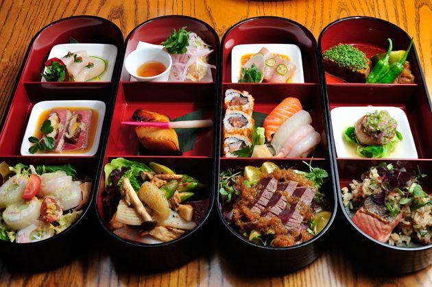Nobu Bento Boxes - our lunch today - so good!!