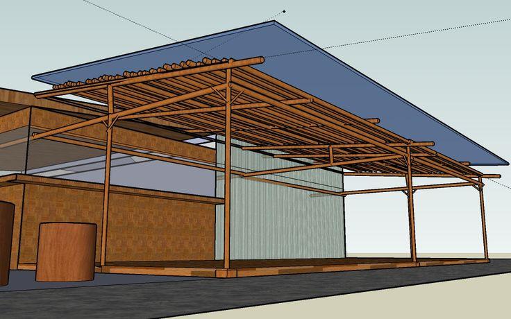 telhado lona transparente e bambu - Pesquisa Google