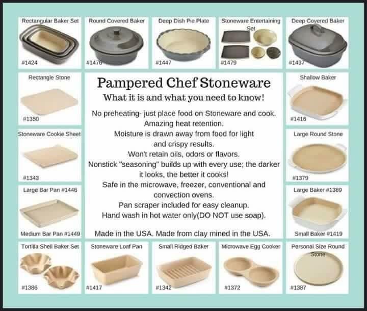 Pampered Chef Stoneware Bar Pan