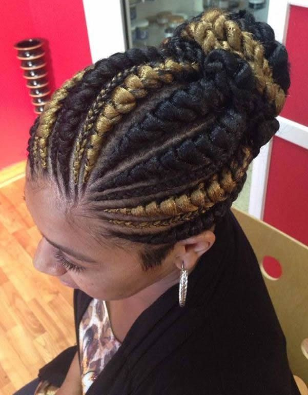 Straight Up Braids Hairstyles For Pretty African Ladies With