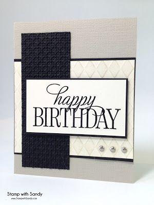 Stamp with Sandy: Masculine Happy Birthday
