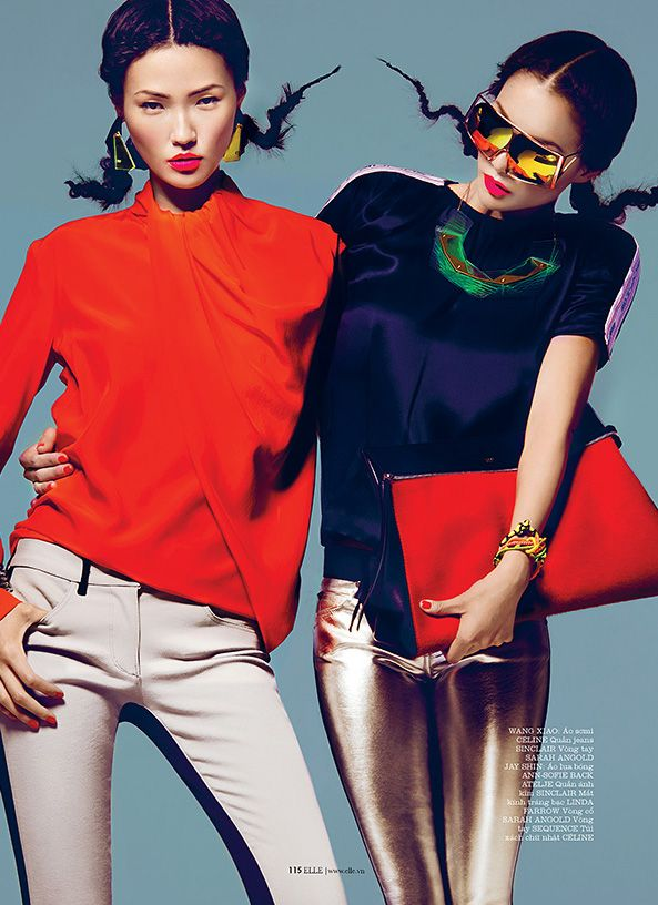 awesome Elle Vietnam | Editorial Moda Março 2013 | Sung Hee, Wang Xiao e Jay Shin