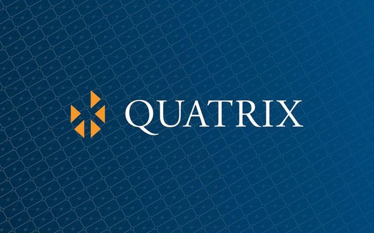quatrix corporate logo linear reverse