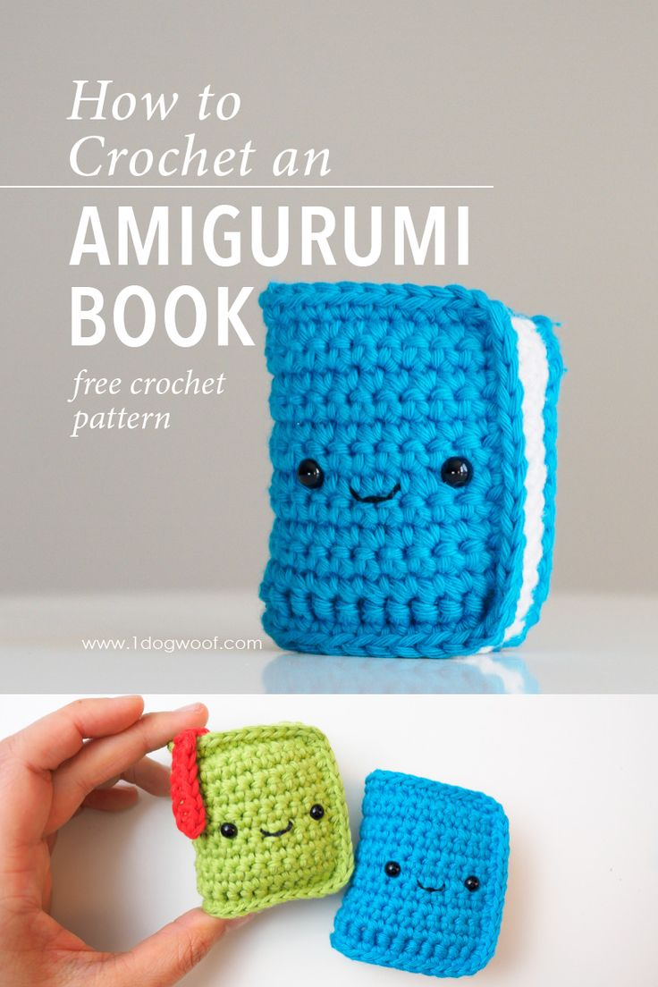 Free crochet pattern for an amigurumi book. This is part of the Amigurumi Advent…