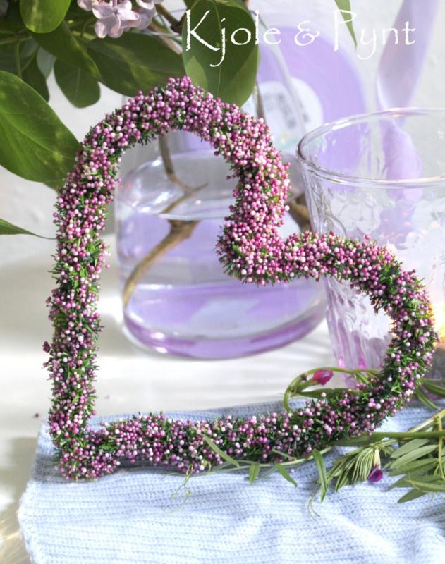 schönes Herz mit lila Perlchen Flieder Tischdeko 15cm | eBay