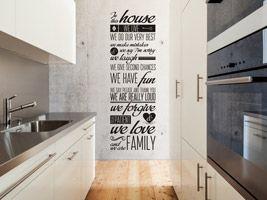 die besten 25+ wandtattoos küche ideen auf pinterest | zitat ... - Wandtatoos Für Die Küche