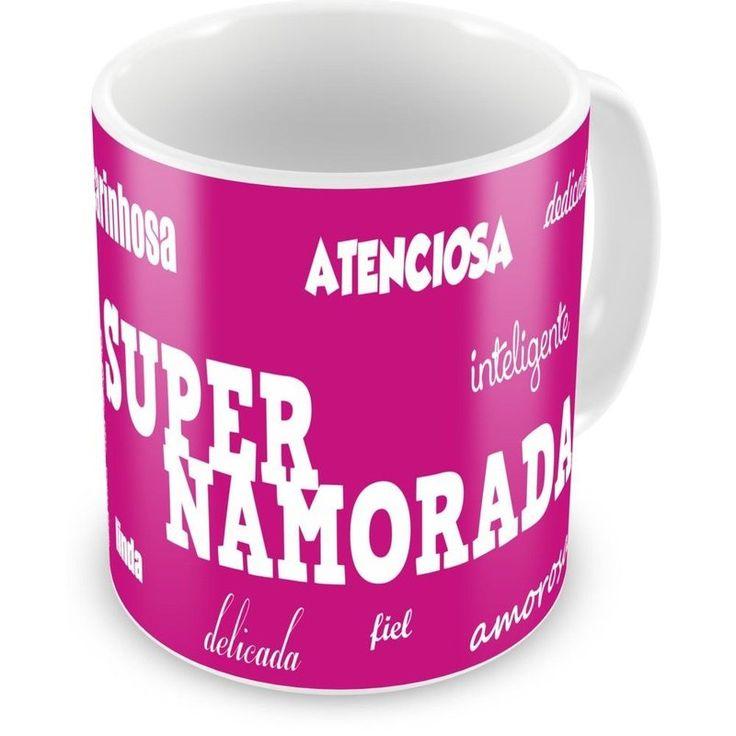 Caneca Porcelana Personalizada Super Namorada Amorosa - ArtePress | Brindes Personalizados, Canecas, Copos, Xícaras
