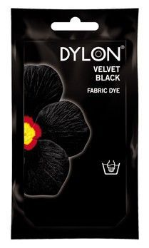 DYLON Elde Boyama - Kadife Siyah - Velvet Black Fabric Dye - Elde Boyama www.gagva.com.tr