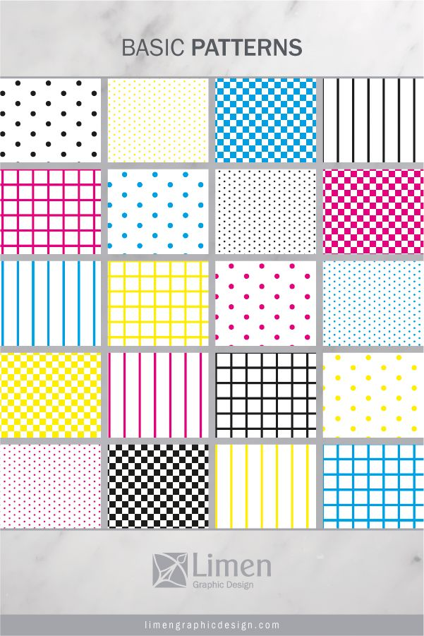 CMYK Basics Patterns by Limen Graphic Design