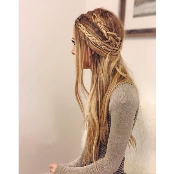 26 Boho Hairstyles with Braids Bun Updos Other Great New Stuff to Try... ❤ liked…