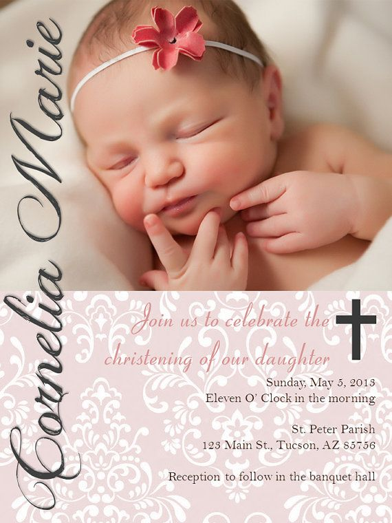 Printable Christening/Baptism Invitations, Perfect Angle on Etsy, $11.21 AUD