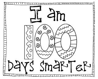 100 day coloring pages printable | 100 days smarter coloring page | 100th Day of School | 100 ...