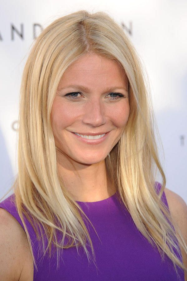 """""""Gwyneth Paltrow is known for her one-length cuts, which give her extra fullness,"""" McGill says. Despite her very fine hair, Paltrow's hair always looks long and healthy, because it's well cared for and layer-free."""