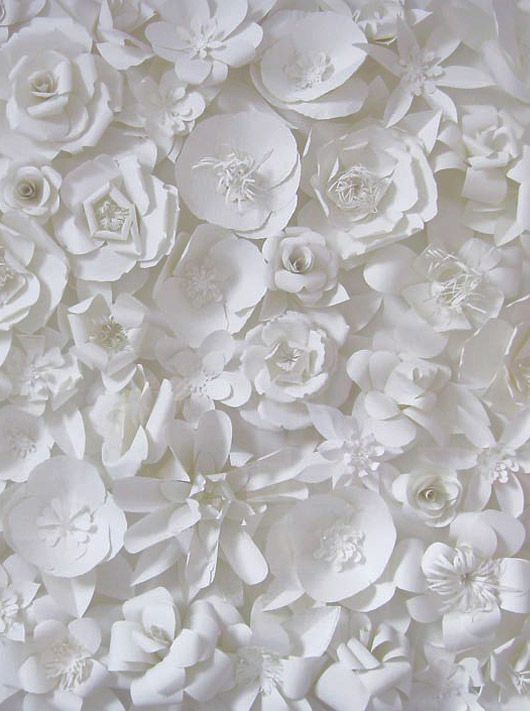 ☼ Midday Visions ☼ dreamy light & white art & photography - carol gearing's paper cut garden.