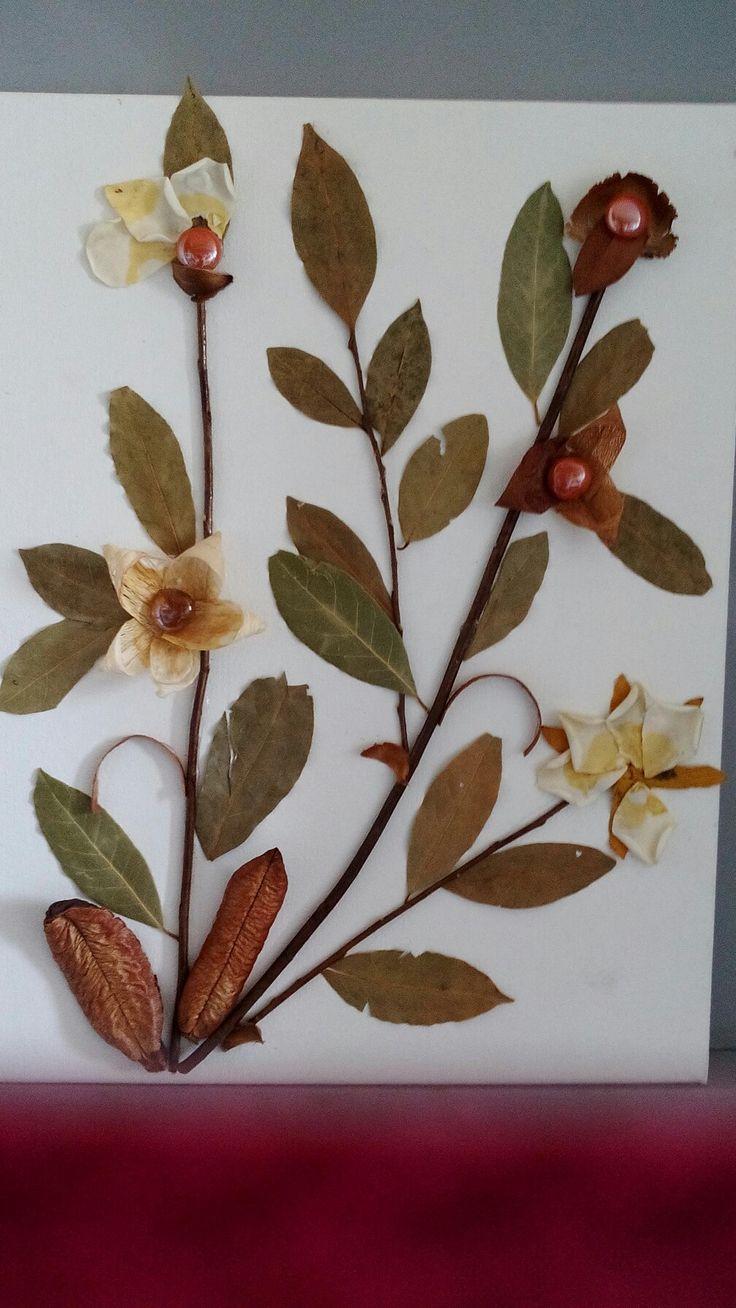 Πίνακας με αποξηραμένα φυτά