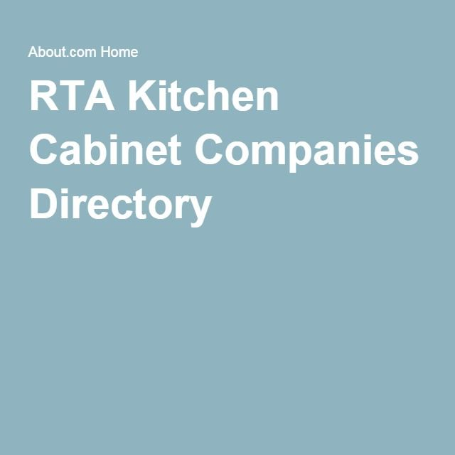 Ready To Assemble Rta Kitchen Cabinet Companies Directory