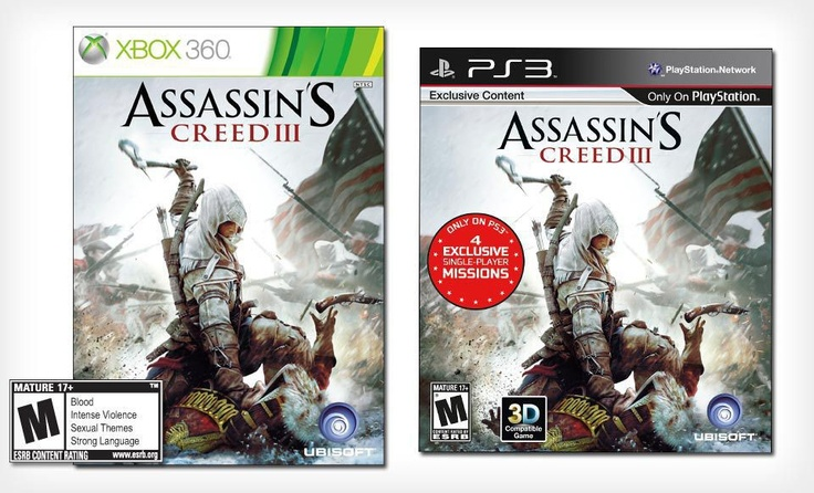 """39 for """"Assassin's Creed III"""" for PlayStation 3 or Xbox"""
