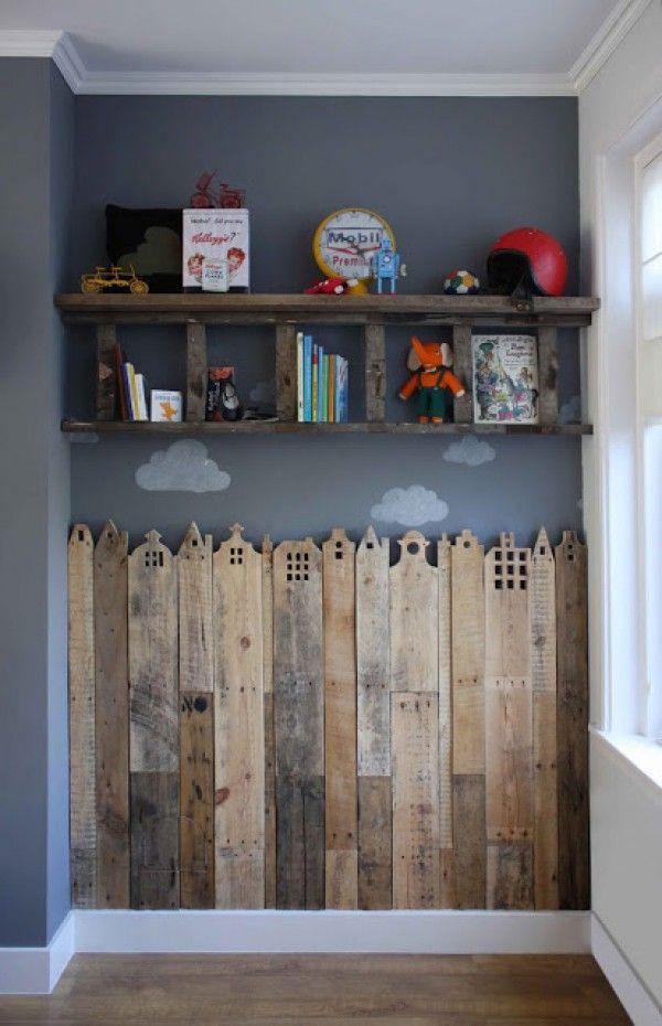 Holzwand Frs Kinderzimmer Oder Fr Eine Kleine Kinderecke Im Wohnzimmer