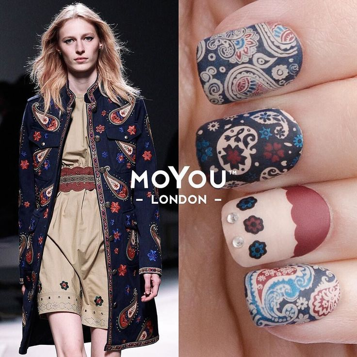Its paisley perfected! Double tap if you love our @fay_brand -inspired mani as much as we do. Flower Power - 05 & 06 launching TOMORROW! by moyou_london