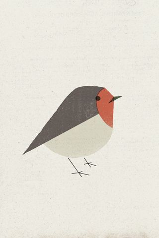 Pit Roig - Pau Lamuà Reminds me of my mother who loved robins. Love the simple graphic. marilynmoore.com