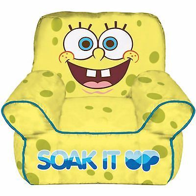 Nickelodeon Sponge Bob Square Pants Toddler Bean Bag Chair Kids Safe Play