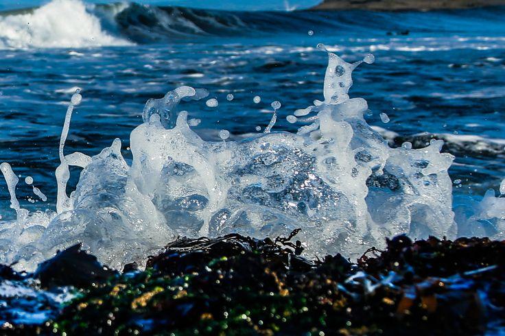 Wave breaking off the rock by Inside Left, Bundoran  #waves #surfing #irishsurf