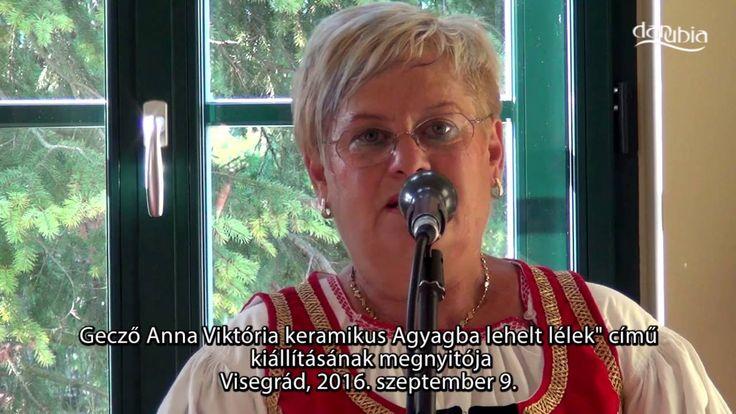 """VISEGRÁD - Gecző Anna Viktória """"Agyagba lehelt lélek"""" című kiállításának..."""