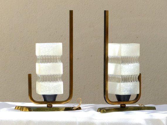 Lot de 2 lampe de chevet vintage lampe de table par collectionit lampes am - Lampe chevet vintage ...