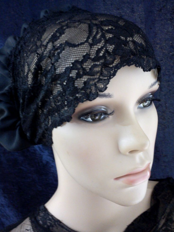 Lace Bonnet Snood Hair Cover Cap Scrub Hat Liner Under Scarf Hijab 2-Way